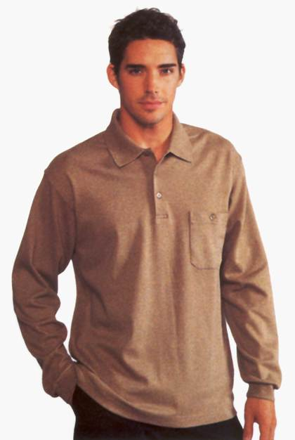 JOCKEY - Polo-Shirt, langarm, Sandwash-Optik